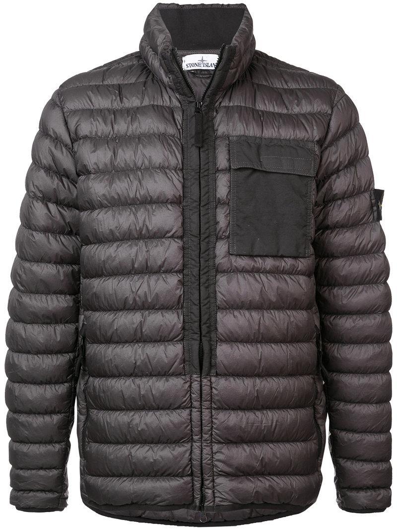 new product the best buy good Stone Island Zipped Padded Jacket - Grey   ModeSens