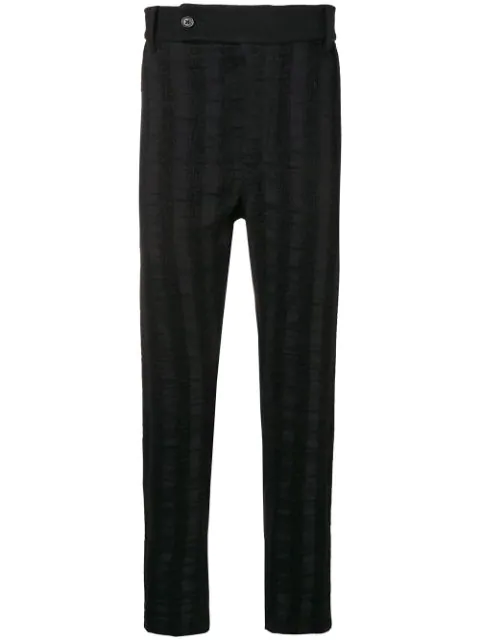 Ann Demeulemeester Regular Fit Trousers In Black