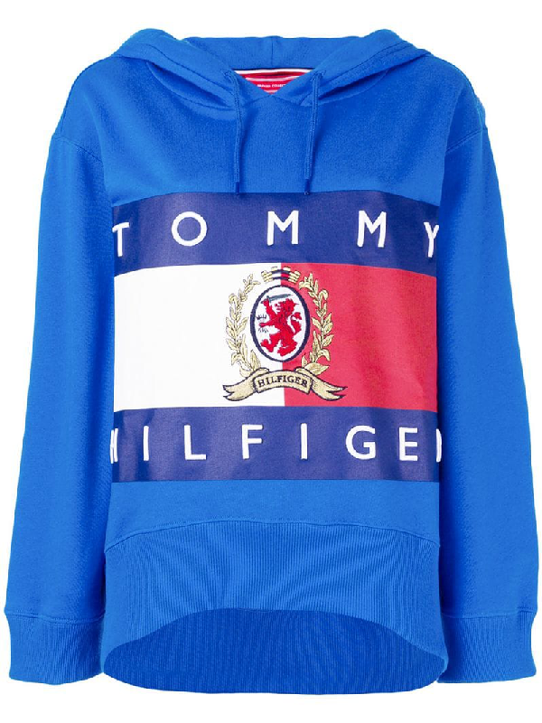 f8bfe059 Tommy Hilfiger Hilfiger Collection Printed Oversized Hoodie - Blue ...