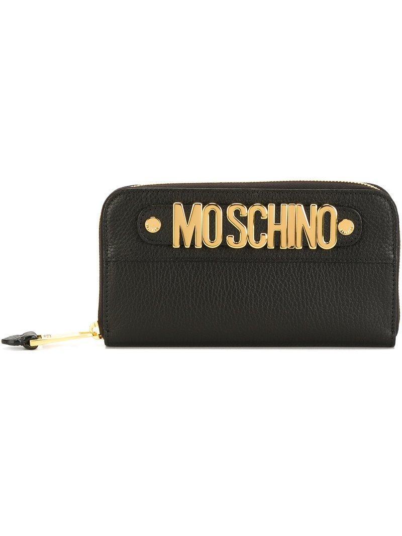 Moschino Logo Plaque Wallet - Black