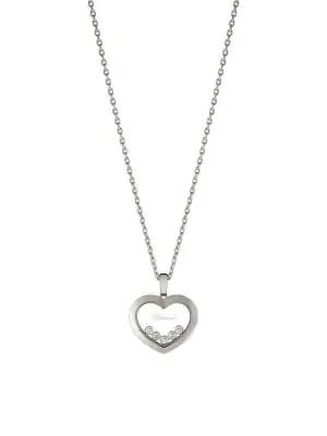 1a4d171b2d22d Happy Diamonds 18K White Gold & Diamond Pendant Necklace