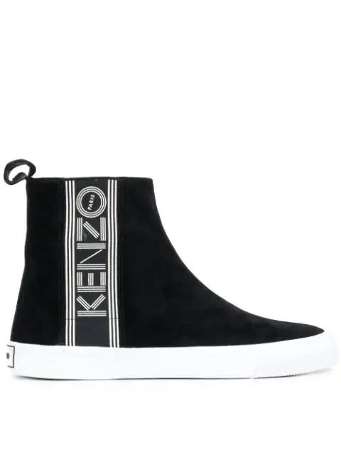 Kenzo Women's Suede Slip On Sneakers  Kapri In Black