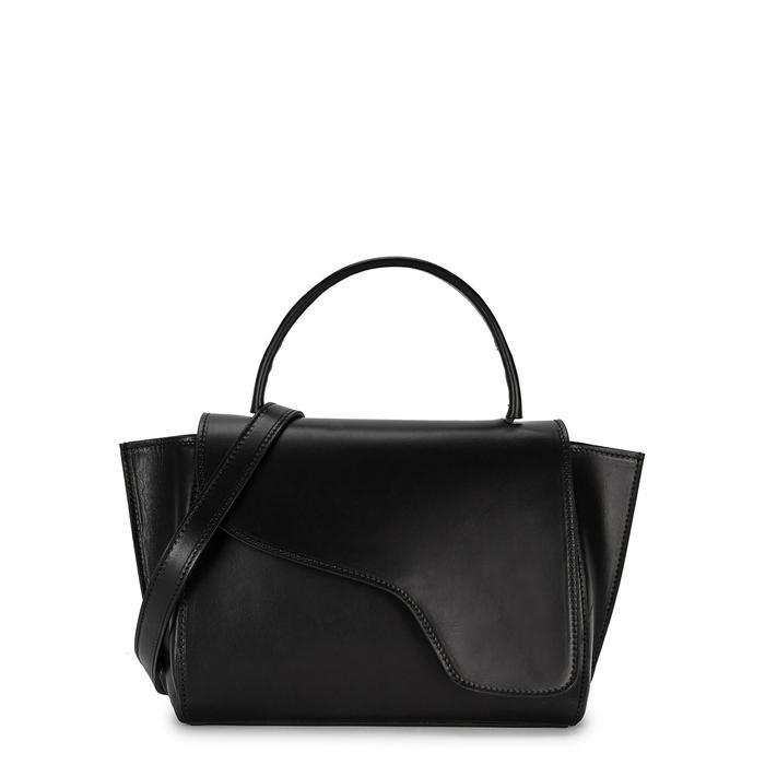Atp Atelier Arezzo Black Leather Shoulder Bag