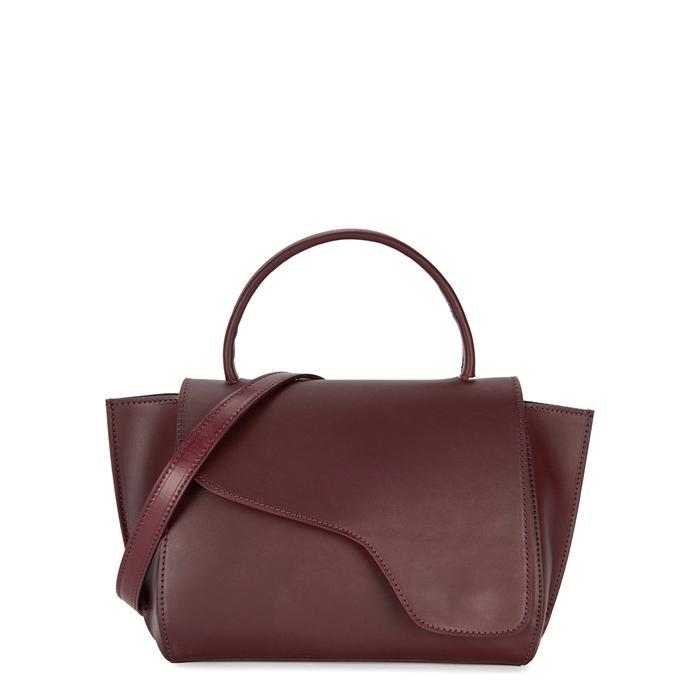 Atp Atelier Arezzo Burgundy Leather Shoulder Bag In Bordeaux
