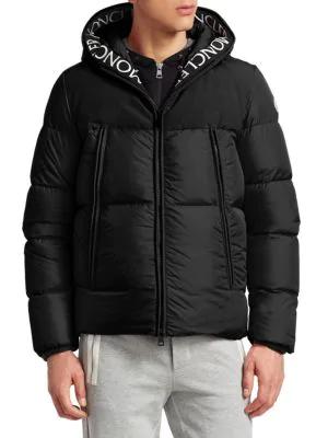 c2263ffde Moncler Montclar Logo Trim Down Jacket In Black