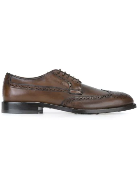 Tod's Classic Brogue Shoes In Brown