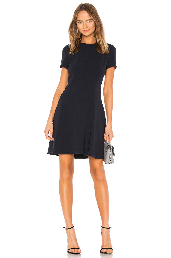 Theory Modern Seamed Fit And Flare Dress In Blue Modesens