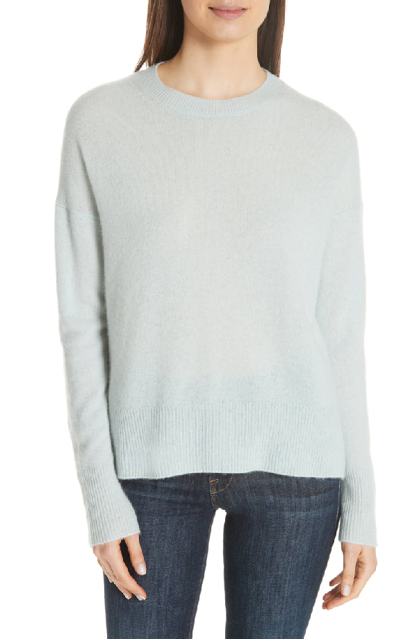 d0d1ce96c Theory Karenia Long Sleeve Cashmere Sweater In Light Winter Green