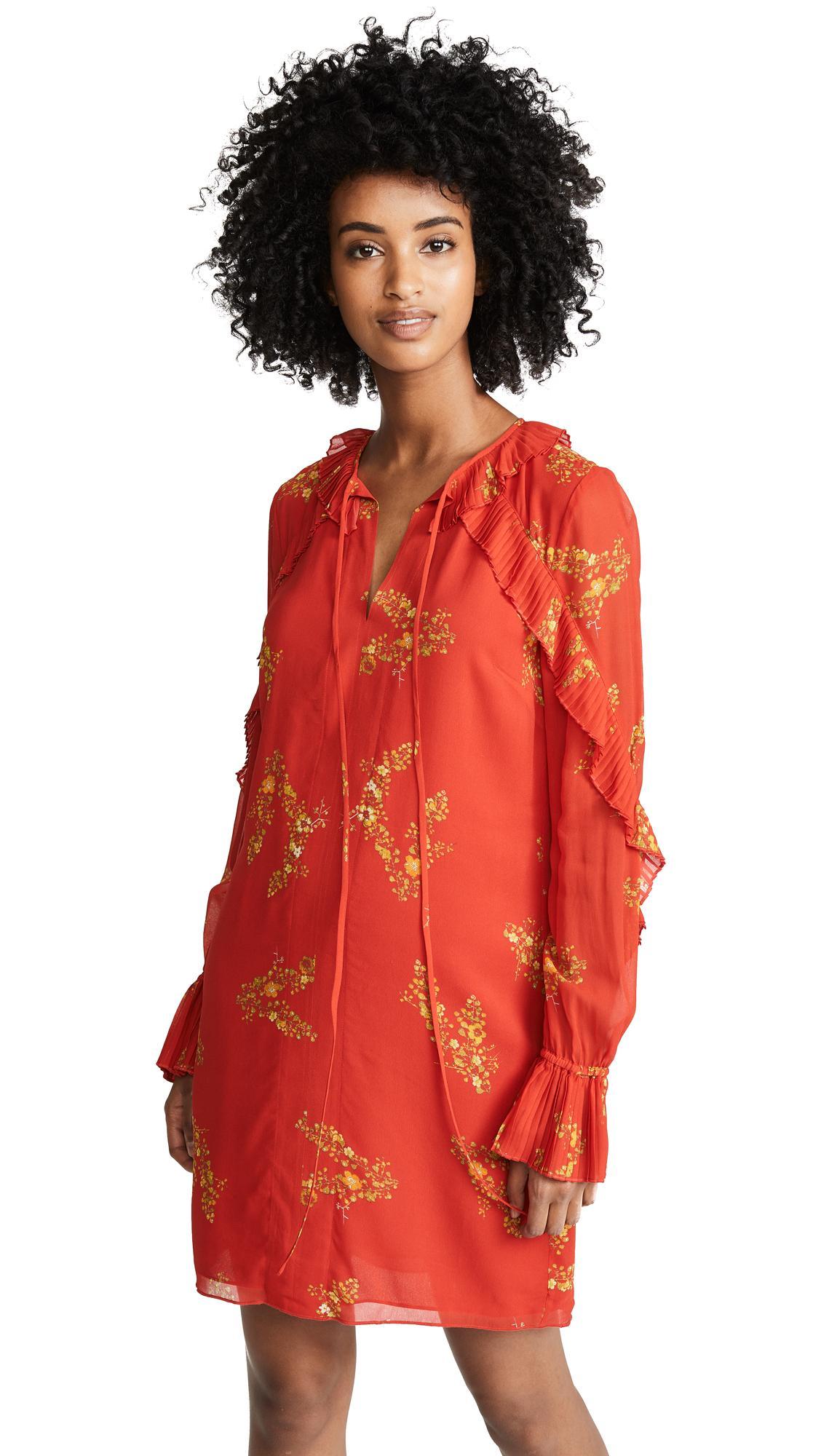 076fd050d366ba Derek Lam 10 Crosby Long Sleeve Pleated Dress In Red | ModeSens