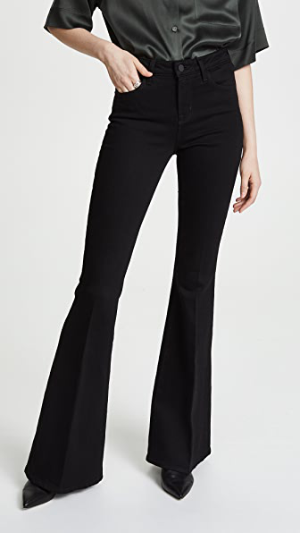 L Agence Solana Jeans In Noir