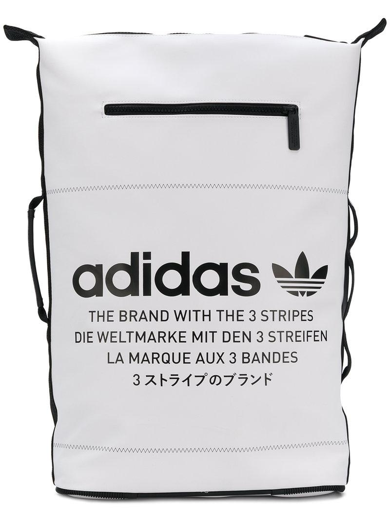 adidas Originals NMD Backpack, WhiteBlack, One Size