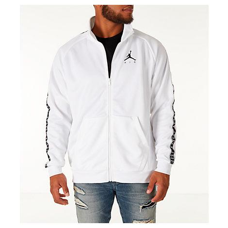 e4c1c28869d Nike Men's Jordan Sportswear Jumpman Taped Tricot Jacket, White ...