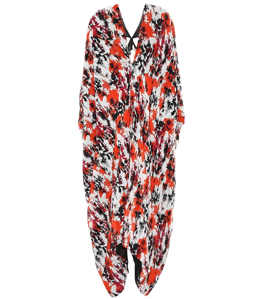 Roberto Cavalli Printed Silk Dress In Multicoloured
