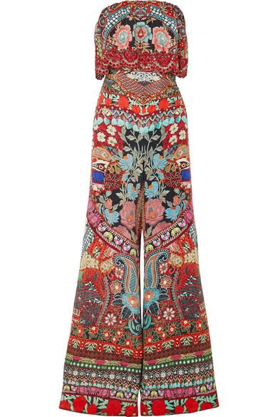8c072a1641 Camilla Embellished Printed Silk Crepe De Chine Jumpsuit In Red ...