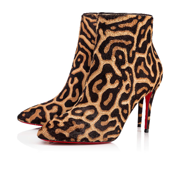 quality design 63976 98241 Eloise Leopard Red Sole Booties in Black-Brown