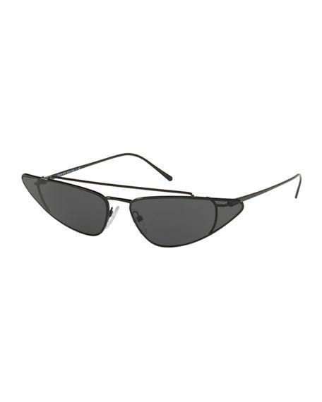 8d220b998a3 Prada Men s Pr63Us Slim Metal Aviator Sunglasses In Silver