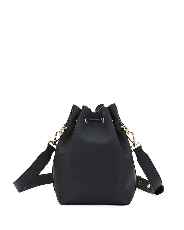 0d403813528ea Fendi Mon Tresor Grande Calf Leather Bucket Bag In Dark Blue   ModeSens