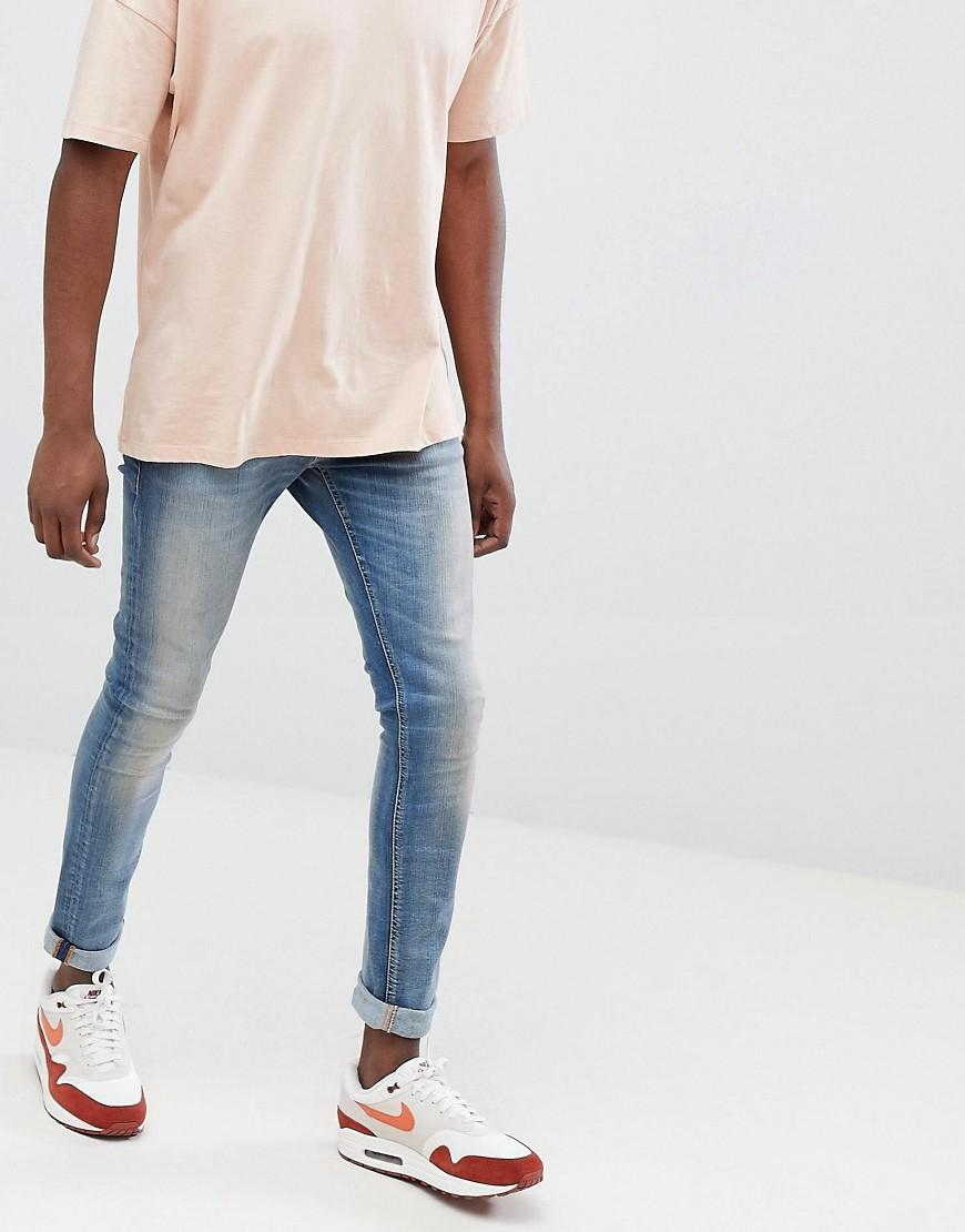 88d536aadd6c Nudie Jeans Co Tight Terry Super Skinny Jeans Strikey Pale - Blue ...