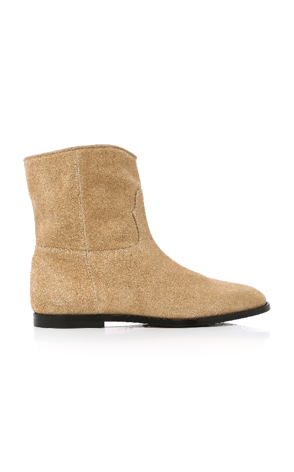 9b28081741c Paperclip Chelsea Suede Boots in Neutral