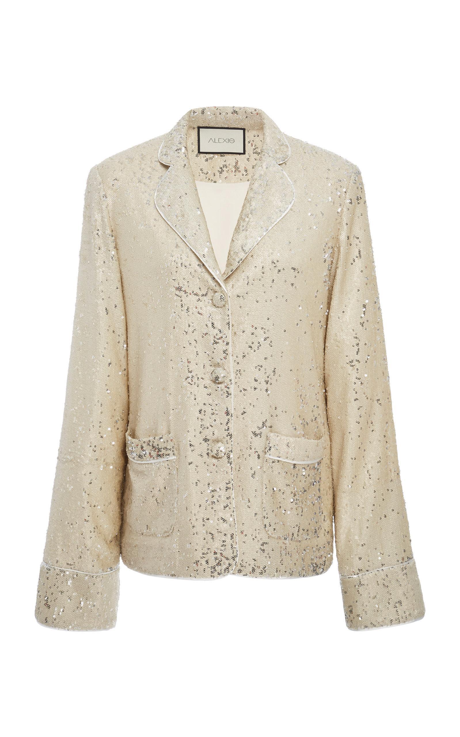 ebc65fe63f85 Alexis Ripley Sequin Jacket In White | ModeSens
