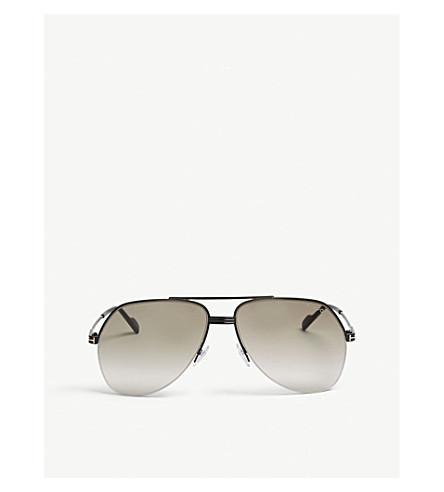 9a2530fd6 Tom Ford Wilder Tf644 Pilot-Frame Sunglasses In Black | ModeSens