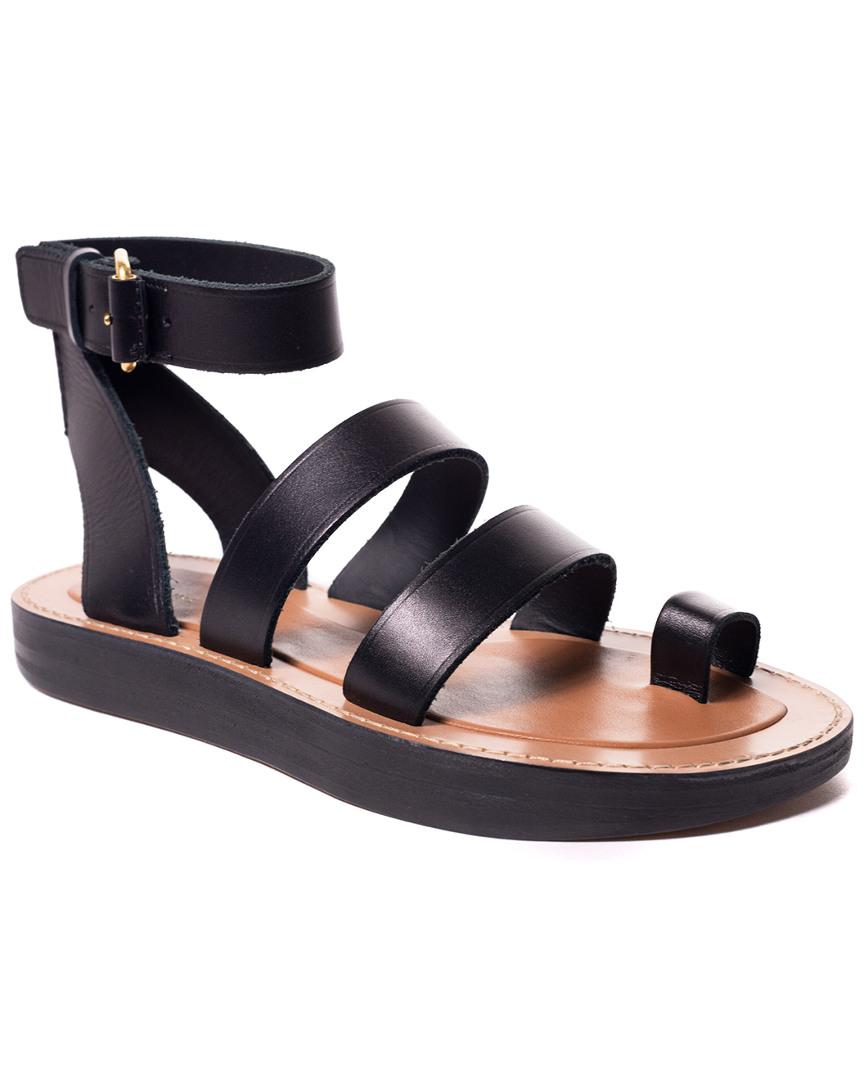 69eae74a13d45c Celine Leather Toe Ring Sandal In Nocolor | ModeSens
