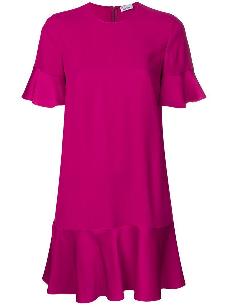 6a5f6058b6b Red Valentino Pleated Mini Dress - Pink