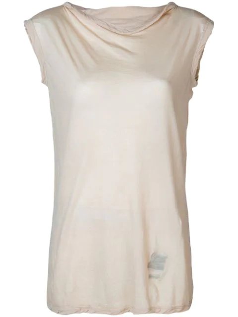Rick Owens Drkshdw Sleeveless Fitted Sweater In Neutrals