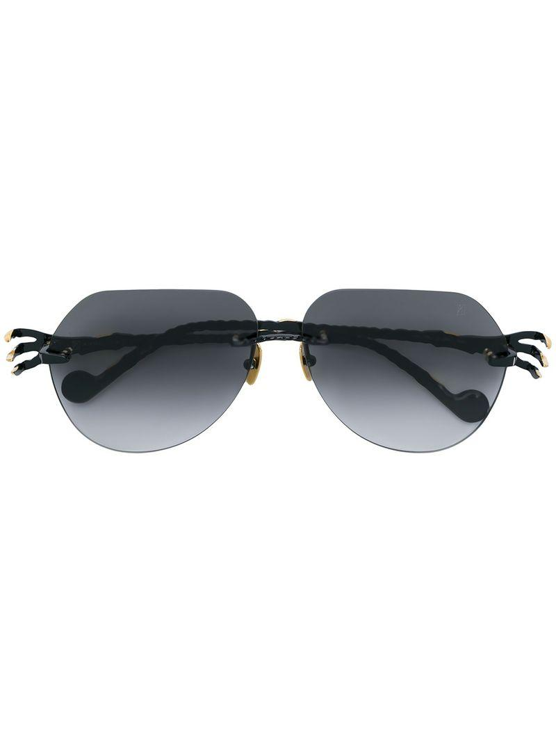 2b57ba54be Anna-Karin Karlsson Anna Karin Karlsson Aviator Sunglasses - Black ...