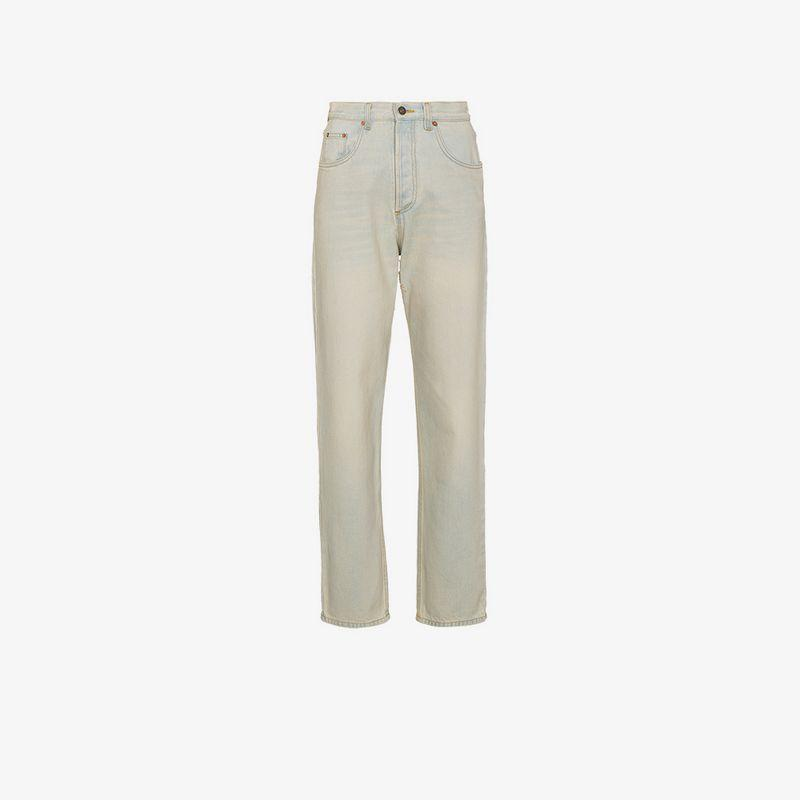 74479001e50 Gucci 80S Stone Washed Jeans In Blue