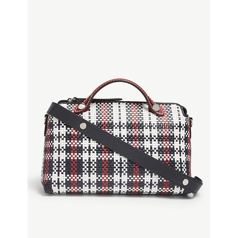 Fendi By The Way Raffia Leather Shoulder Bag In Multi Col