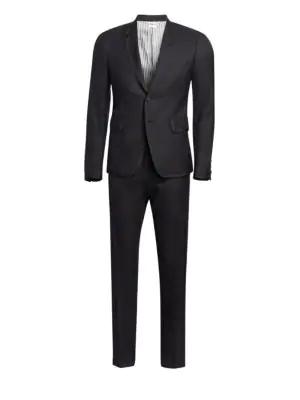 eb45852b4e4 Thom Browne Grosgrain Tipped Super 120S Twill Wool Tuxedo In Black White