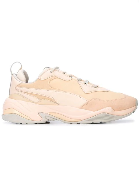 Puma Thunder Drift Leather Trainer Sneakers, Natural Vachetta In Cream/Tan