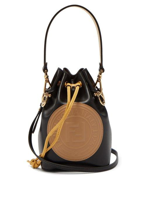 b13b2ea99f2c Fendi Mon Tresor Mini Leather Bucket Bag In Black