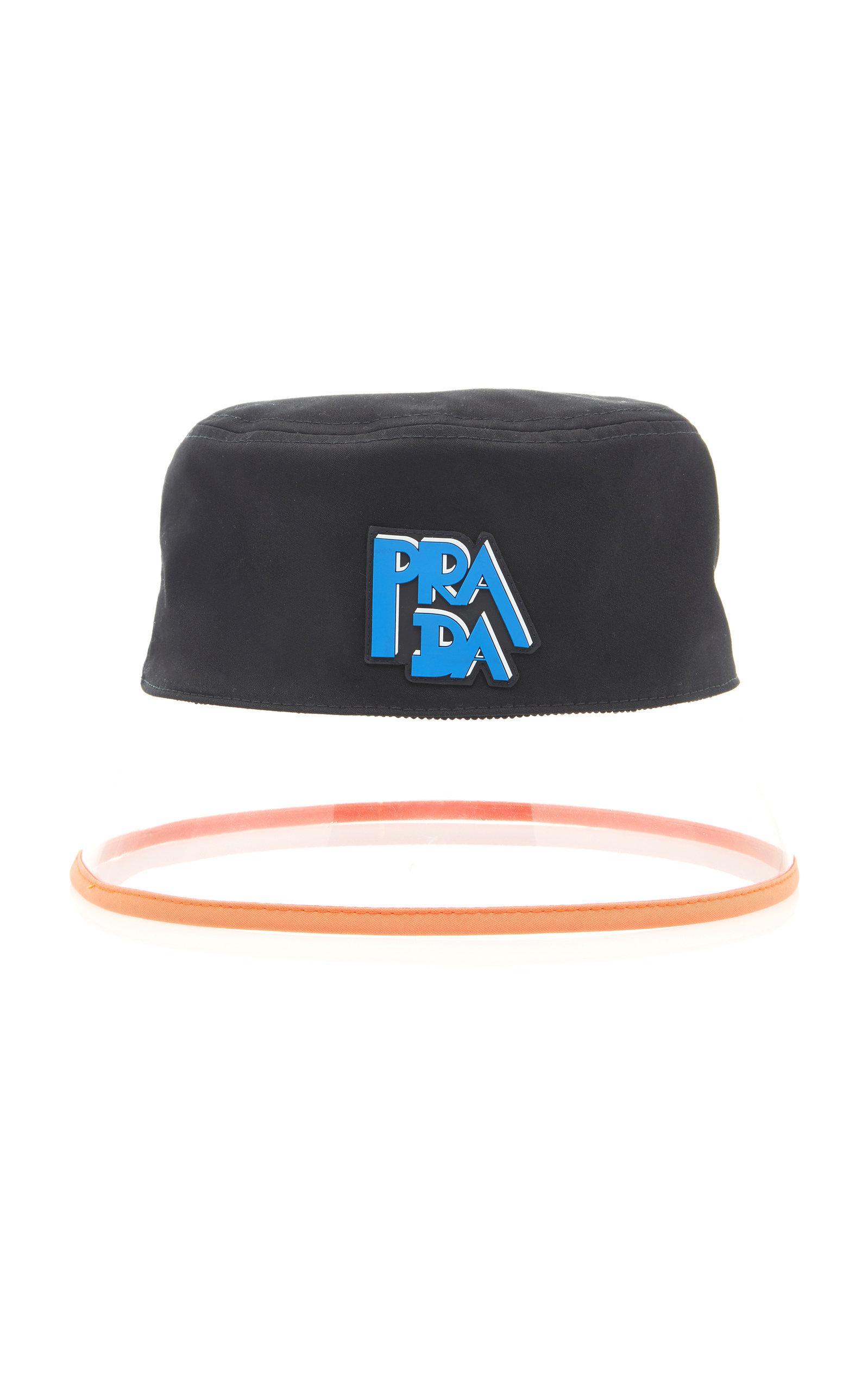 d0233adba3fc0 Prada Popeline Bucket Hat In Black