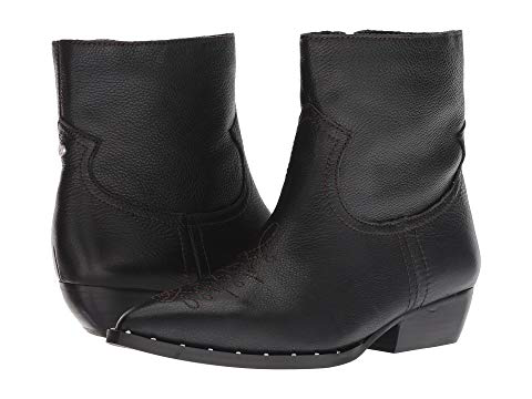 ad2219a20b7 Women's Ava Leather Western Booties in Black Tumbled Granada Leather