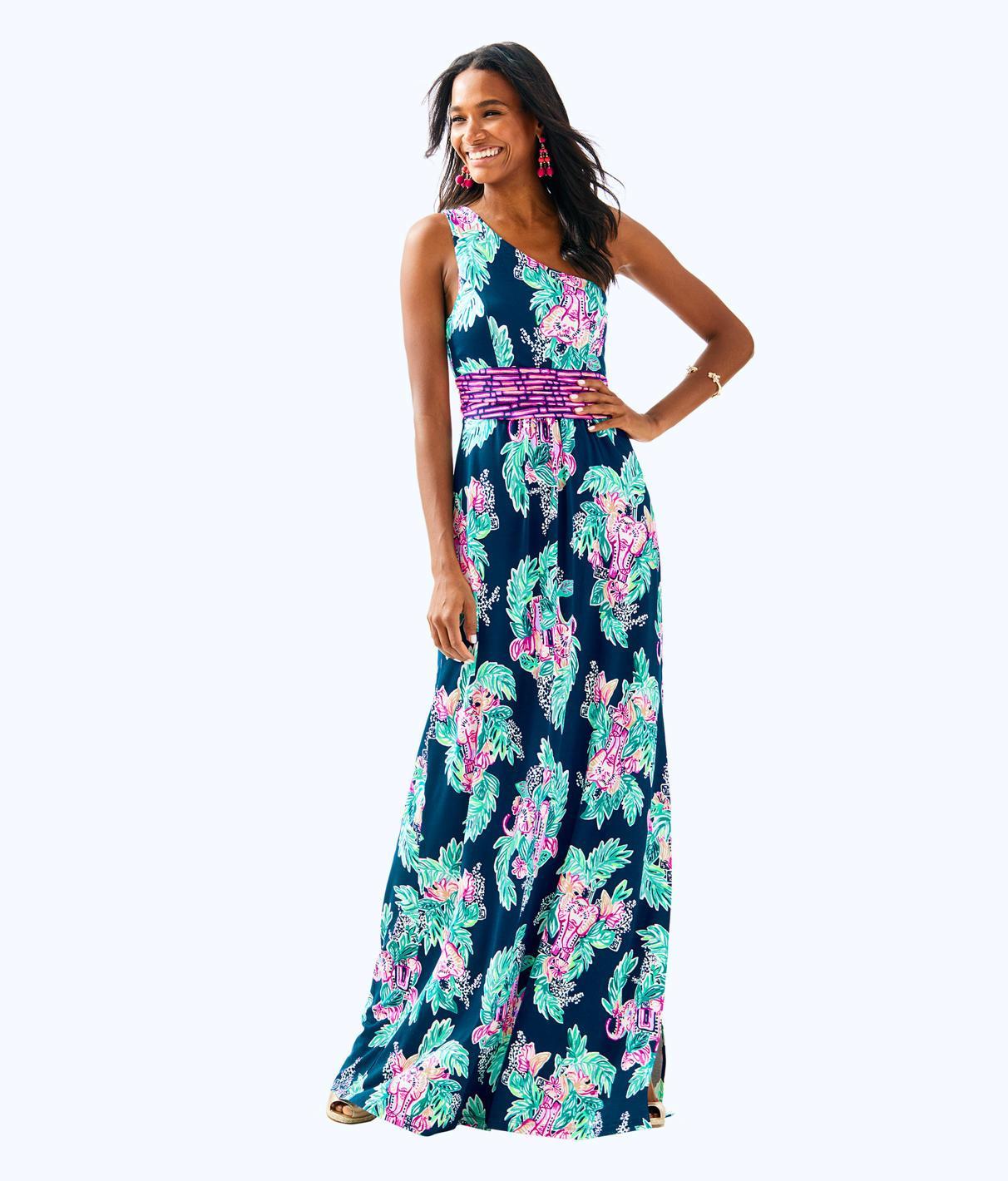fa9dc6b2868125 Lilly Pulitzer Malia Maxi Dress In Inky Navy Peanut Gallery Engineered Maxi  Dress