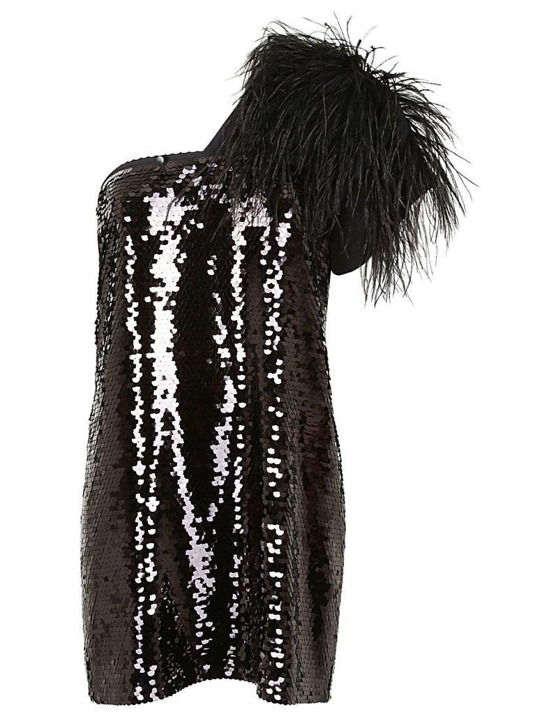 N°21 Nº21 One-shoulder Mini Dress - Black