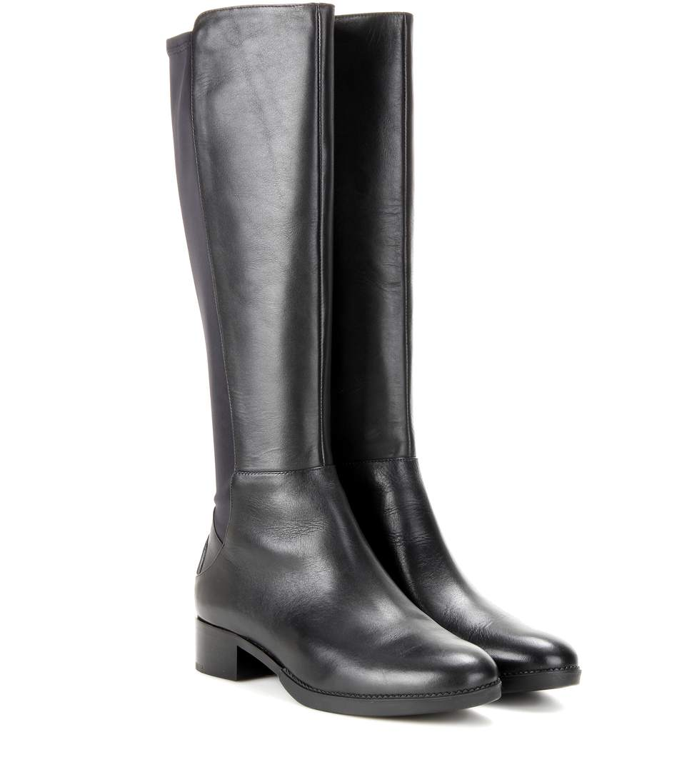 2a34b9e85a391e Tory Burch Caitlin Stretch Leather Knee-High Boots In Llack