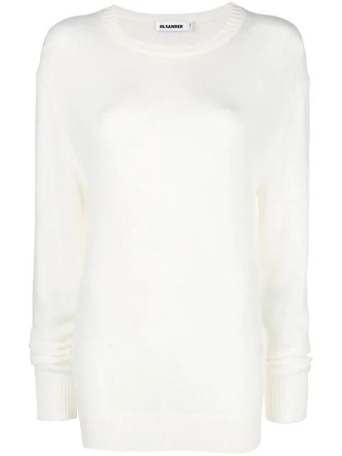Jil Sander Wool Jumper In White