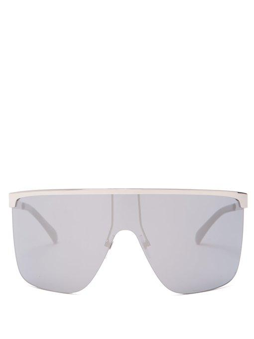 44e09108041c Givenchy - Oversized Square Frame Sunglasses - Womens - Silver ...