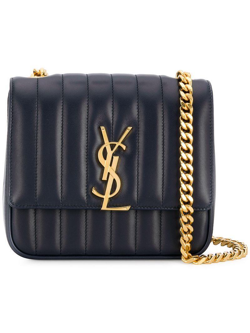 7584c049f286 Saint Laurent Vicky Medium Leather Bag In Blue