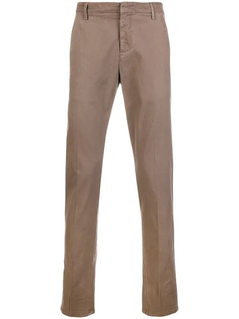 Dondup Straight Trousers In Brown