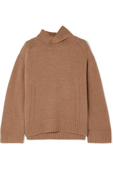 By Malene Birger Aleya Oversized Wool-Blend Turtleneck Sweater In Brown 9a270509c