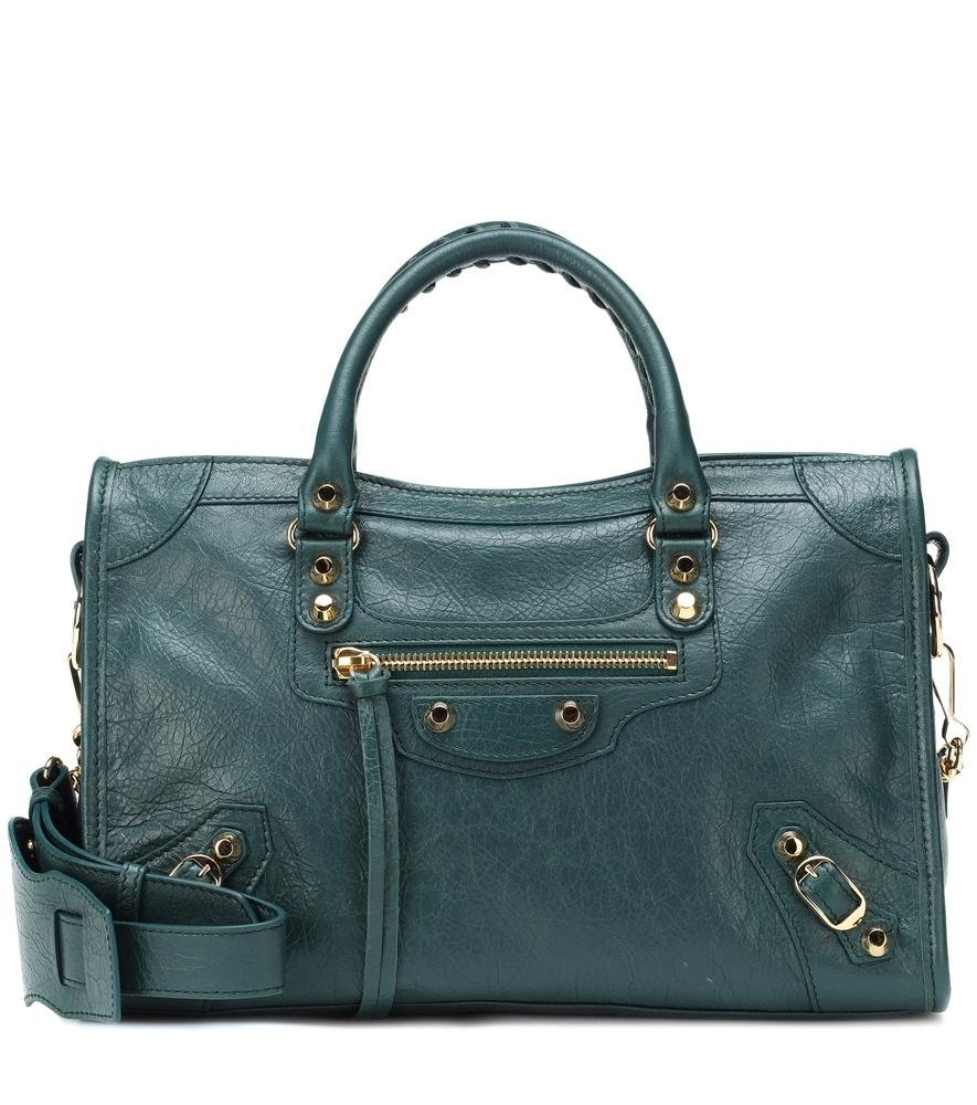 413a044919 Balenciaga Classic City S Leather Shoulder Bag In Dark Green
