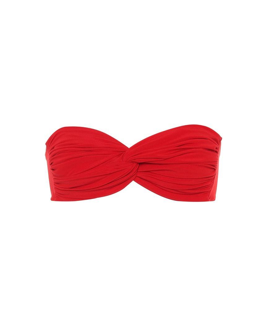 00df4cadcf40a Norma Kamali Johnny D Bandeau Bikini Top In Red
