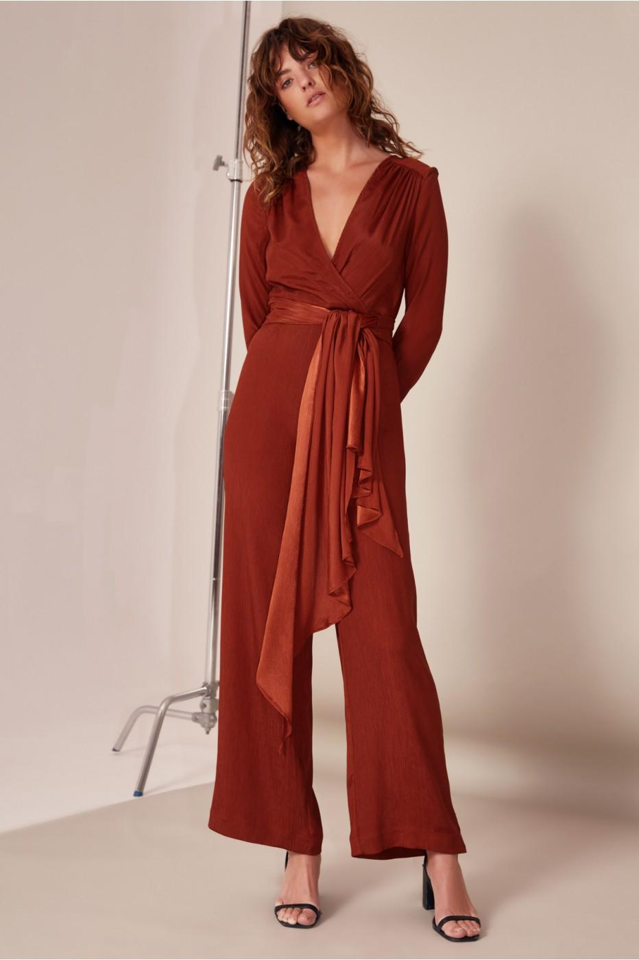2bfb2adcc7 C Meo Collective Eminence Jumpsuit In Copper