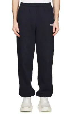 ba8f664a46a990 Balenciaga Men's Campaign Logo Sweatpants In Navy | ModeSens