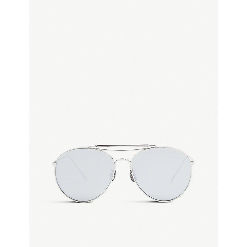 05ee5f4fedd3 Gentle Monster Big Bully Titanium Sunglasses In Silver