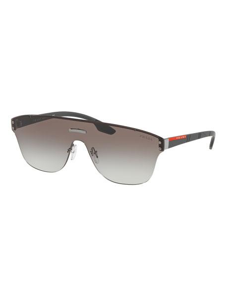 6c6b23153dade PRADA Men s Ps57Ts Rimless Aviator Sunglasses in Charcoal. Prada Men